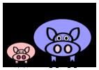 Bild von kleinen Schweinen